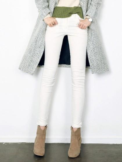 Branca jeans skinny básicas