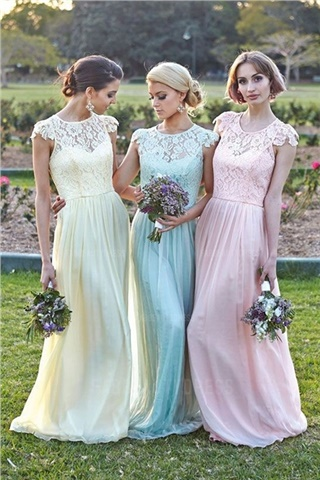 The most beautiful dresses for bridesmaids