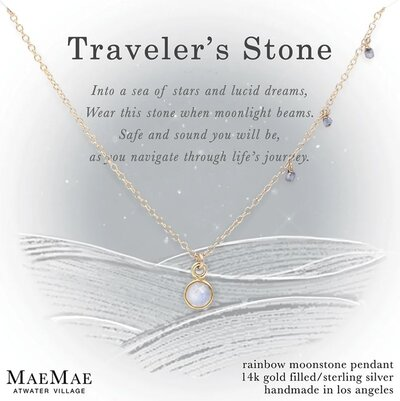 travelers stone necklace